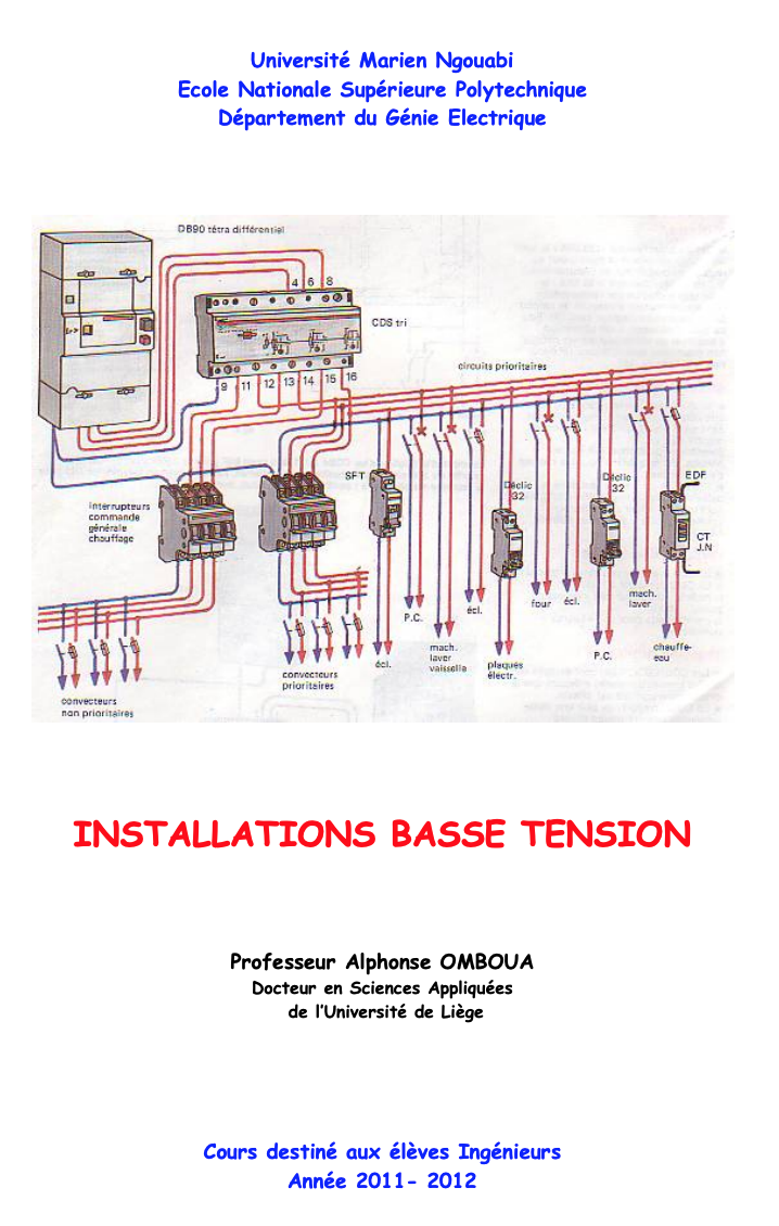 Cours Genial INSTALLATIONS BASSE TENSION