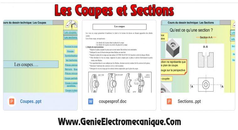 Cours du dessin technique: Les Coupes et Sections