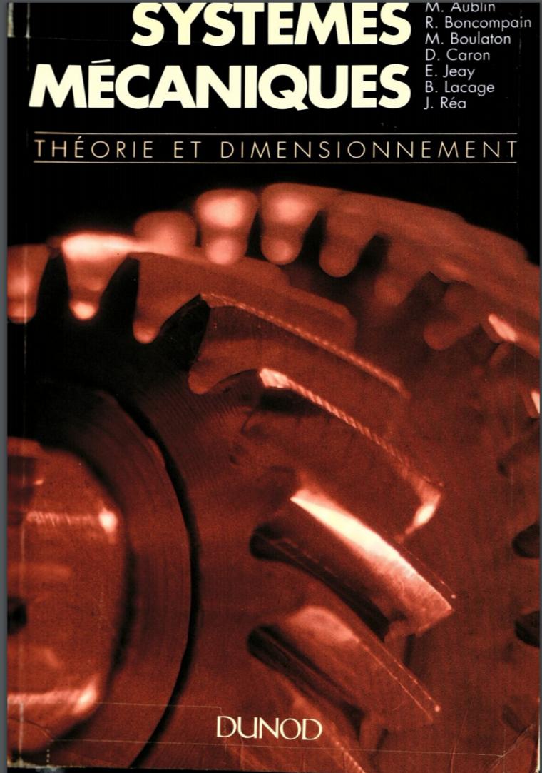 Télécharger Livre Systemes Mecaniques Theorie et Dimensionnement.pdf