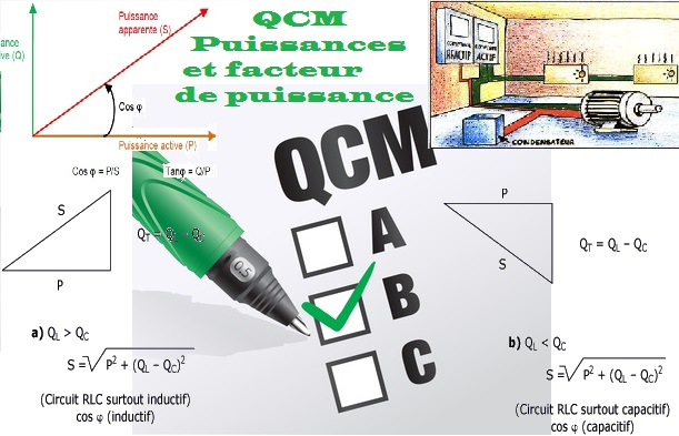 QCM Puissances et facteur de puissance Avec Réponses