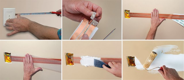 Masquer les fils: bandes électro