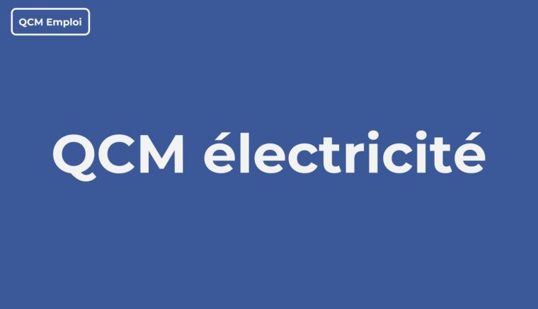 QCM Électricité Avec Correction En PDF