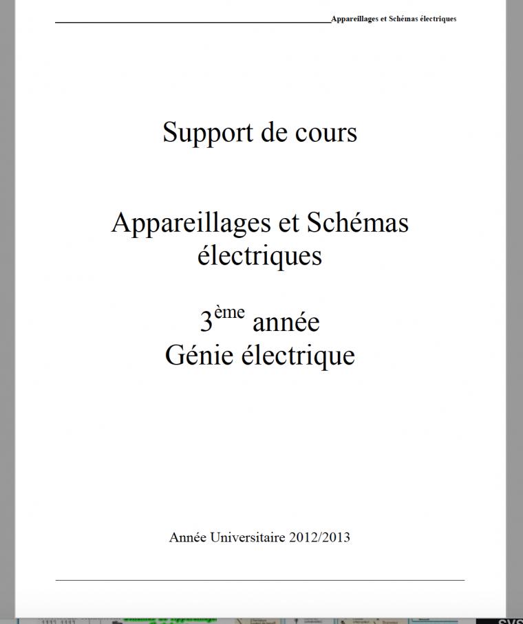 Appareillages et Schémas électriques en PDF