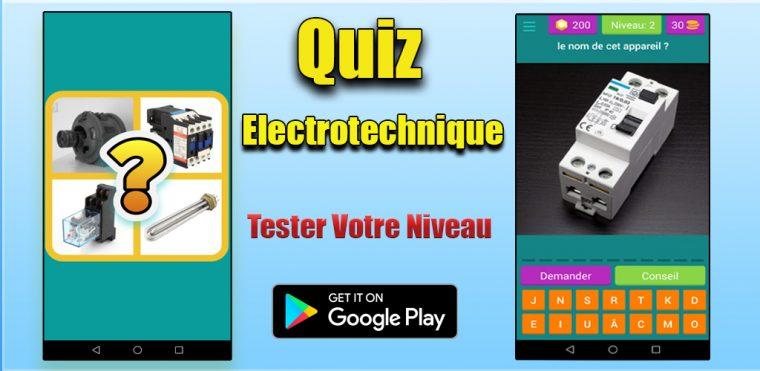 Quiz Électrotechnique : App Android