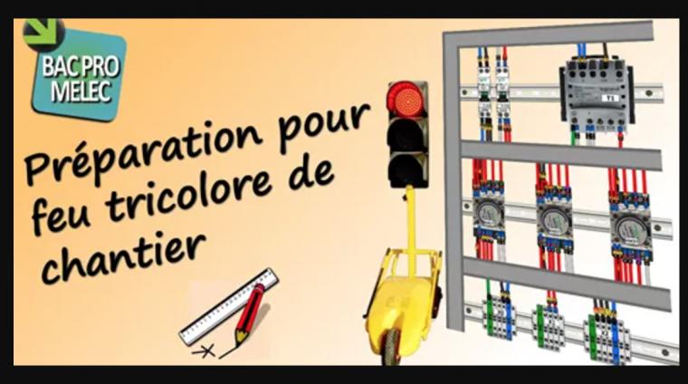 Armoire électrique pour feu tricolore de chantier routier